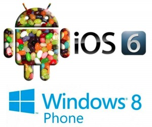 Sammenlign iOS 6, Android 4.2 Jelly Bean, Windows Phone 8